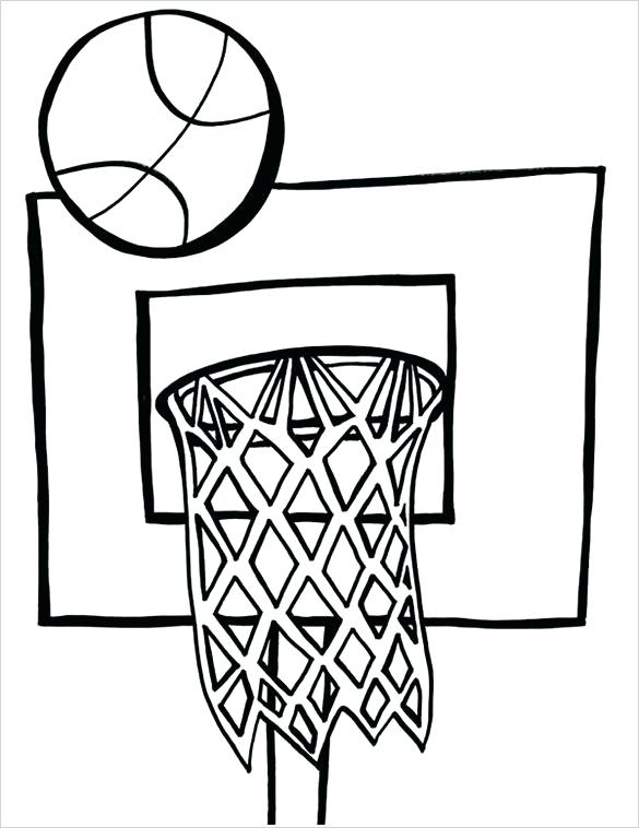 585x758 Good Basketball Hoop Coloring Page Best Of Pages Free Word Format