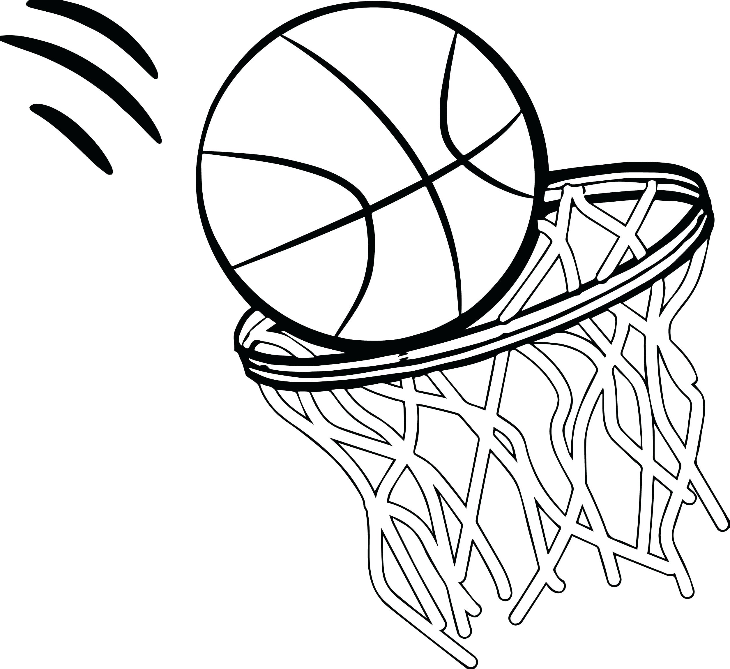 Basketball Goal Drawing At Getdrawings Com Free For Personal Use