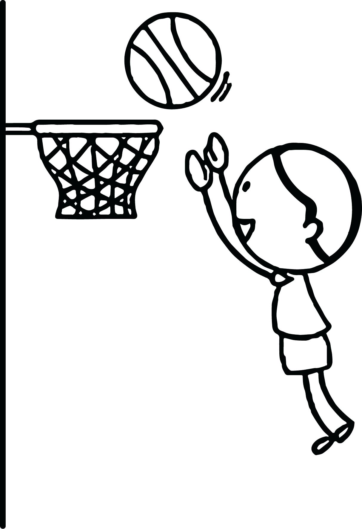 1213x1769 Coloring Basketball Hoop Coloring Page Jump Very High Pages