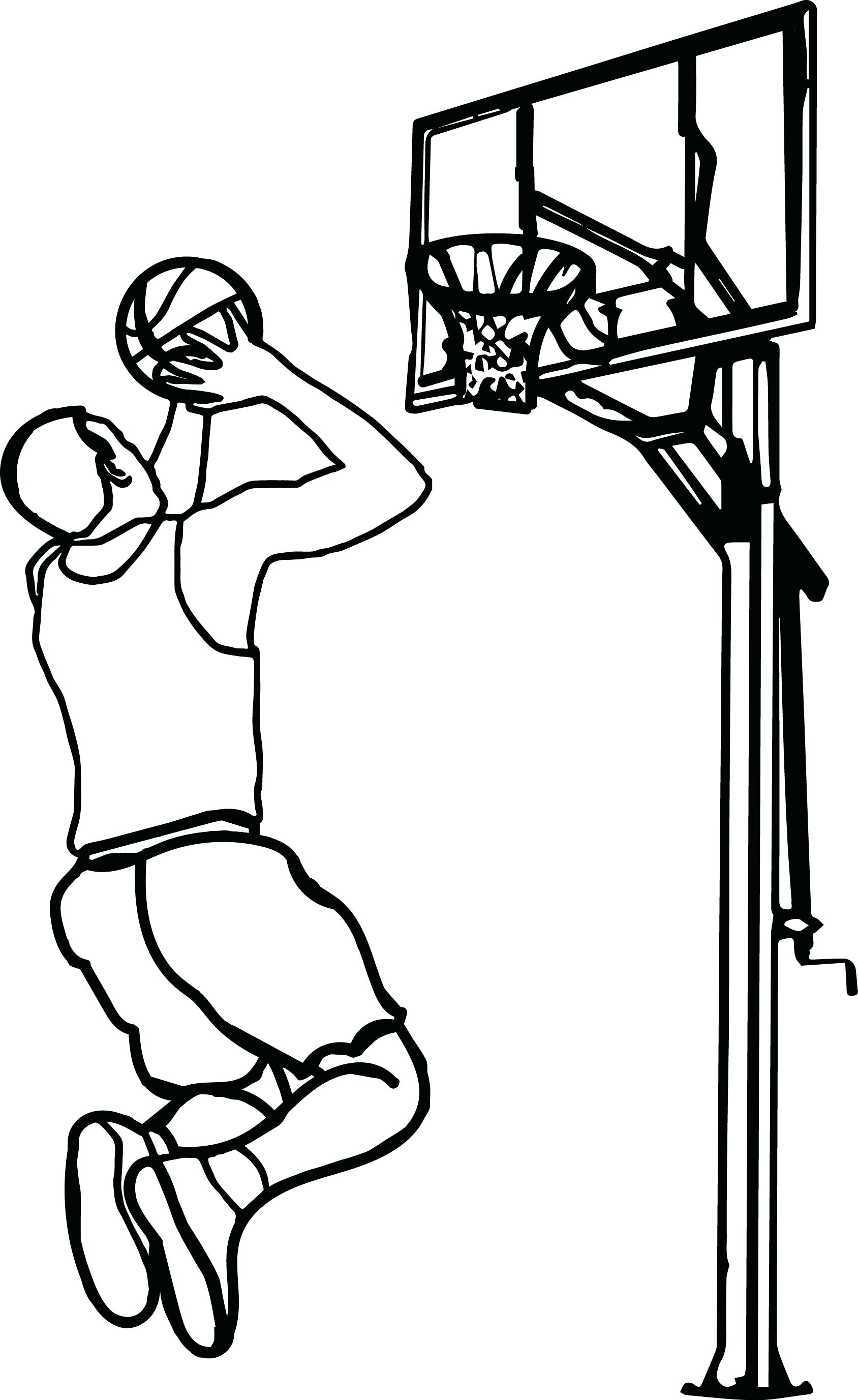Basketball Hoop Diagram Goal Drawing At Free For Personal Use 1688x2753 Coloring Page Pages Diagrams Play