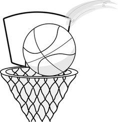 236x245 Basketball Hoop Clip Art Black And White Basketball