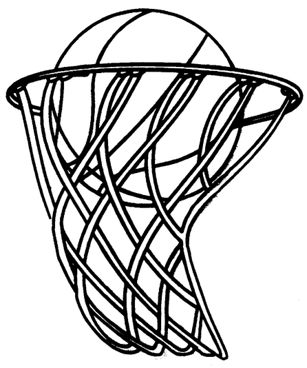 446x534 Basketball Hoop Amp Coloring Book