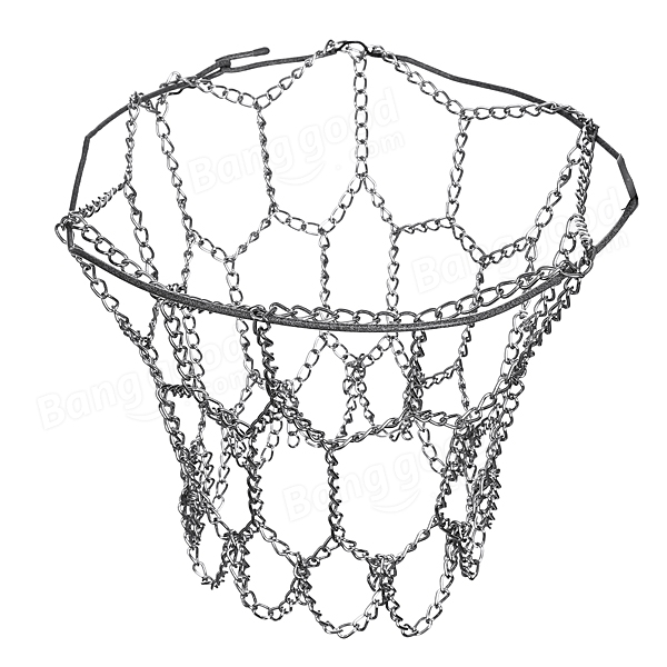 600x600 Basketball Net Sports Hoop Metal Chain Fit Official Rims 12 Loop