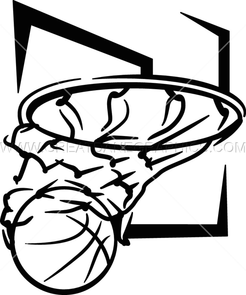 825x989 Basketball Net Amp Board Production Ready Artwork For T Shirt Printing