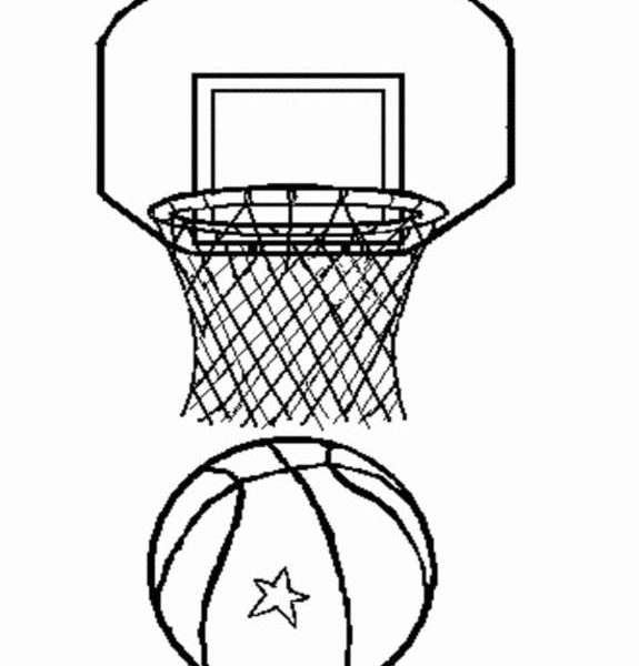 575x600 Basketball Hoop Coloring Page 21 Best Seton Hall Door Decorations