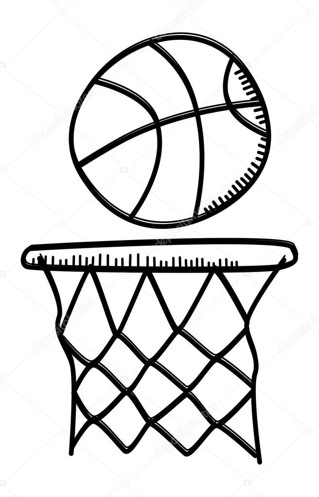 656x1023 Hand Drawn Basketball Stock Vector Vectorfirst