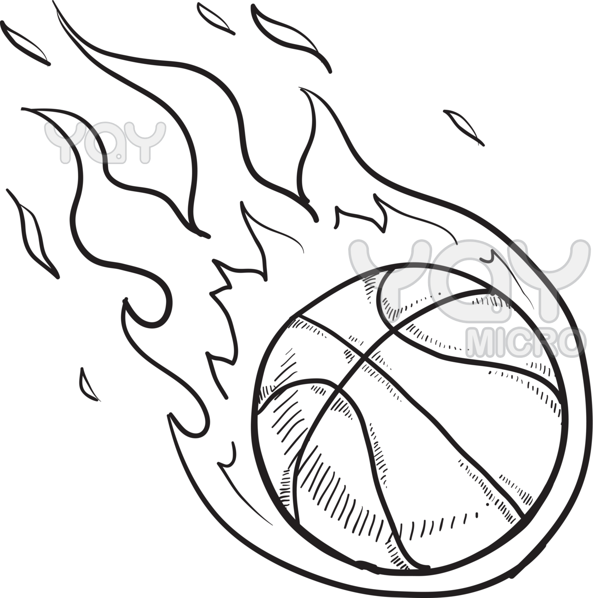 1201x1210 Ball And Basketball Hoop Coloring Pages Sport Of