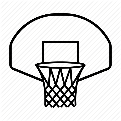 Basketball Hoop Drawing At GetDrawings.com | Free For Personal Use Basketball Hoop Drawing Of ...