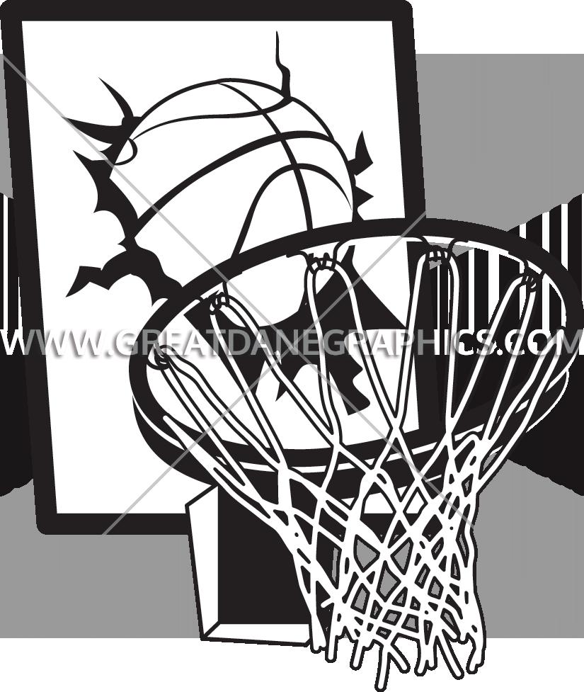 825x977 Basketball Board Crash Production Ready Artwork For T Shirt Printing