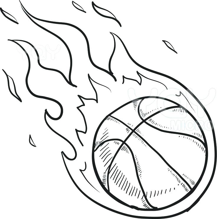 736x741 Nba Basketball Coloring Pages Flying W Coloring Page Nba