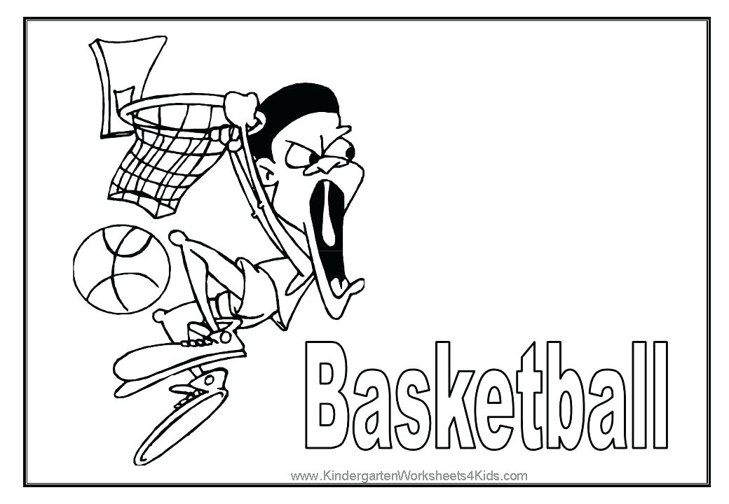 1040x720 Basketball Coloring Pages