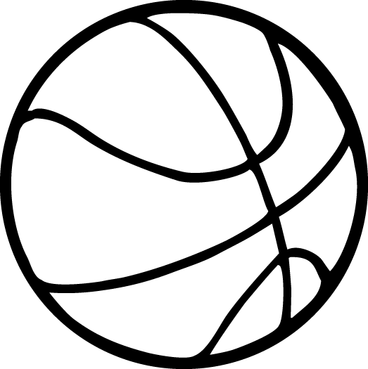 basketball line drawing at getdrawings com