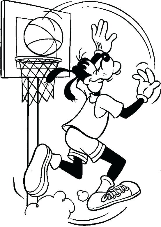 553x778 Basketball Color Page Goofy Playing Basketball Coloring Page