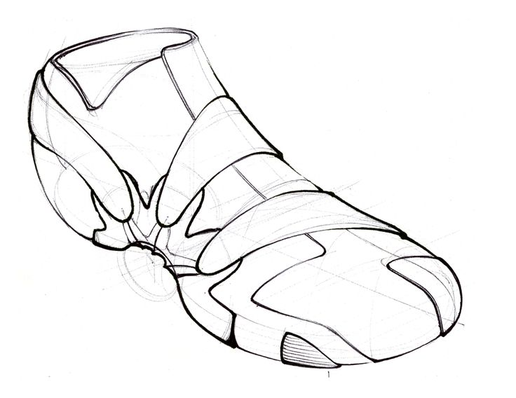 736x568 Pencil Line Drawing Of A Shoe