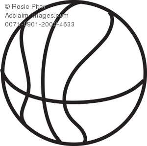 300x298 Basketball Line Drawing Royalty Free Clip Art Picture