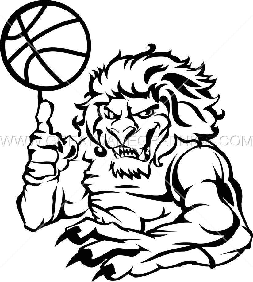 825x919 Basketball Lion Production Ready Artwork For T Shirt Printing