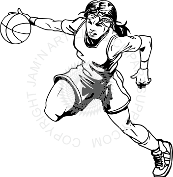 352x361 Basketball Player In Black And White