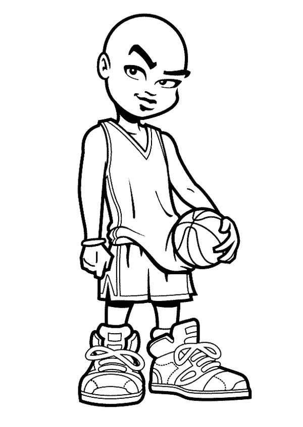 600x847 Basketball Players Coloring Pages