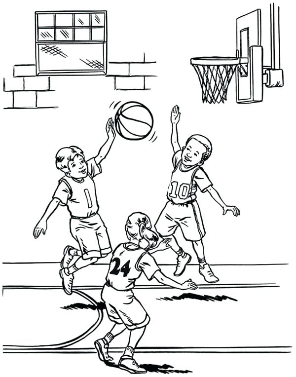 600x764 Basketball Player Coloring Pages Murs