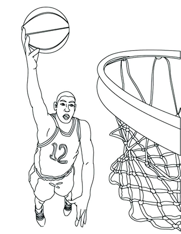 600x775 Nba Players Coloring Pages Omnitutor.co