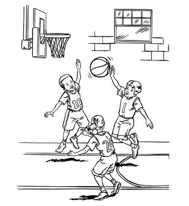 381x415 Basketball Player Coloring Pages Drawing Board Weekly