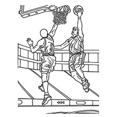 230x230 Basketball Player Coloring Pages Printable In Cure Draw