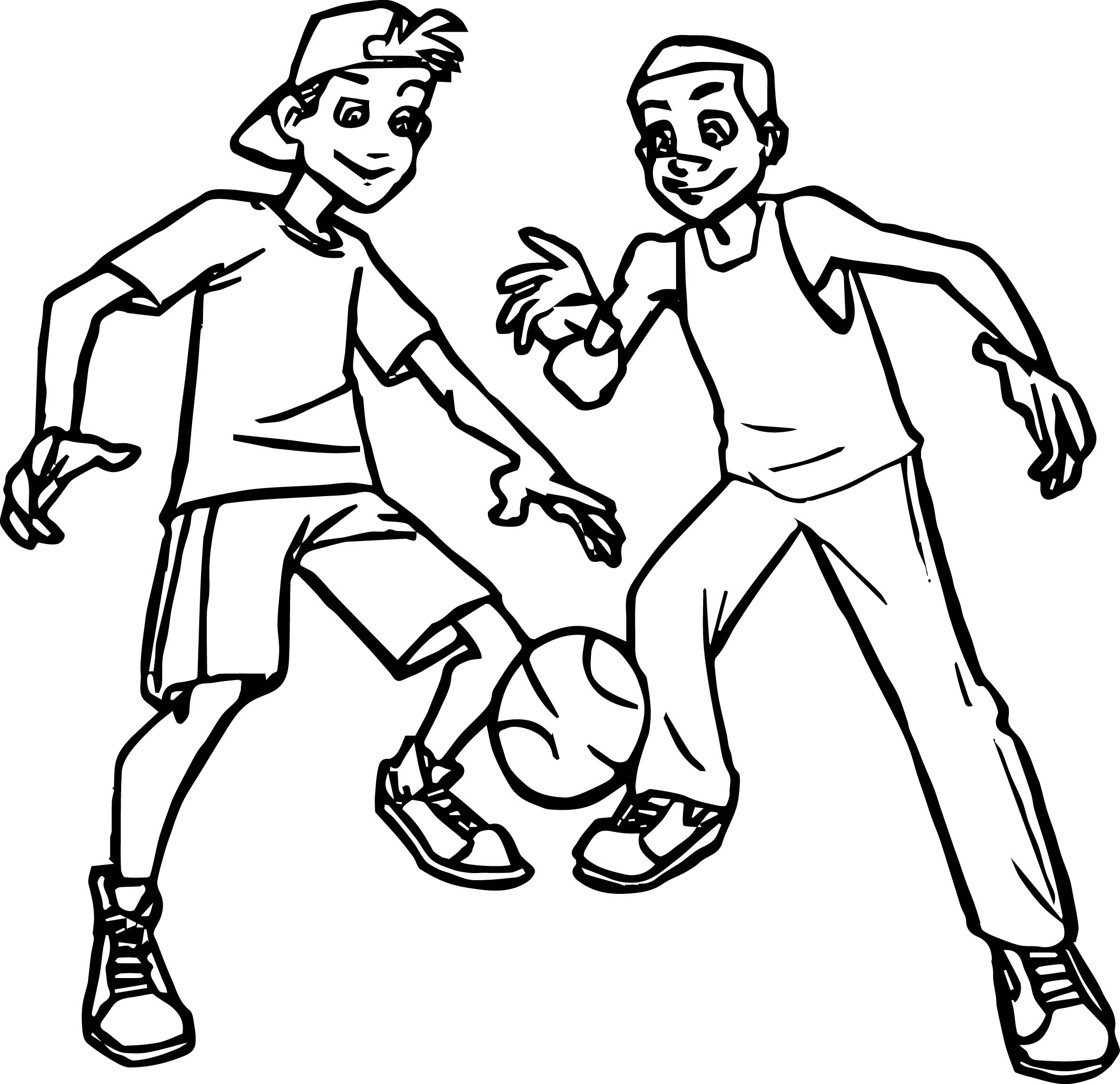2367x2292 Basketball Players For Kids Coloring Page Wecoloringpage
