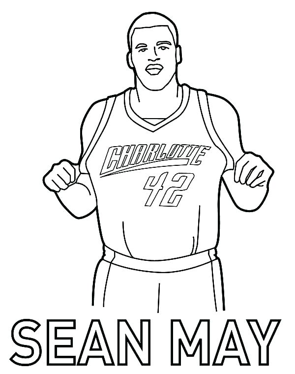 600x760 Lovely Basketball Players Coloring Pages Best