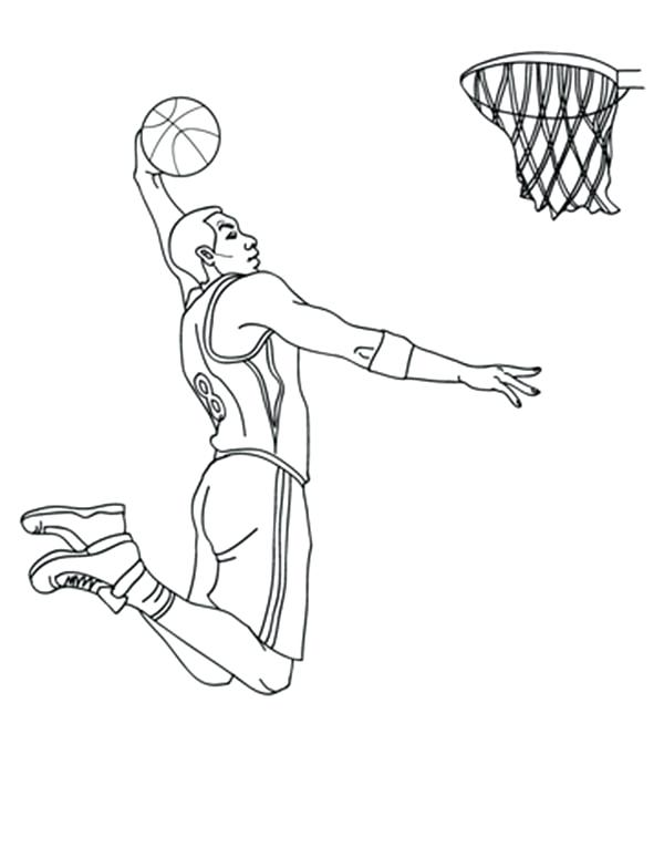 600x775 Nba Players Coloring Pages Basketball Coloring Pages 6 Girl