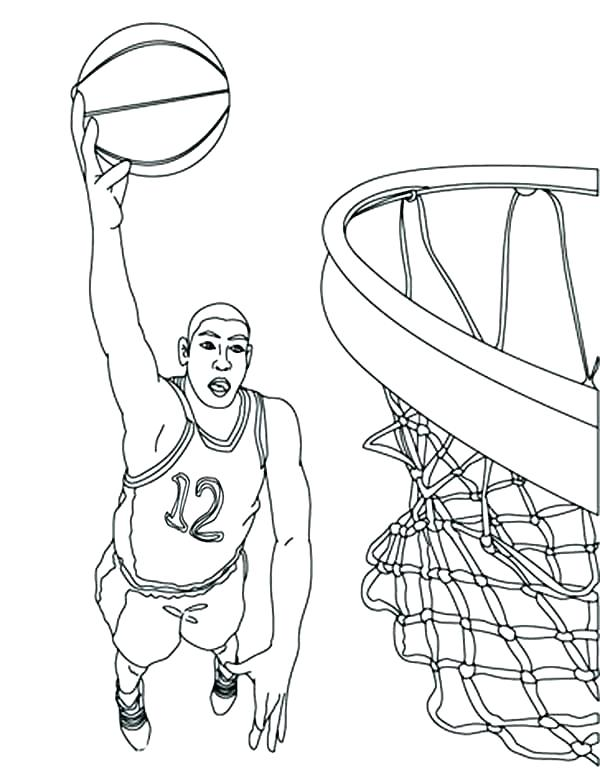 600x775 Nba Players Coloring Pages Basketball Player Coloring Page