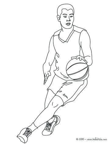 364x470 Nba Players Coloring Pages Basketball Player Dribbling Playing