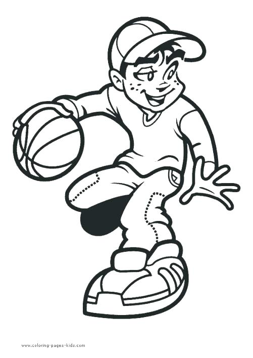 501x708 Basketball Color Page Coloring Sheets Also Printable Drawings