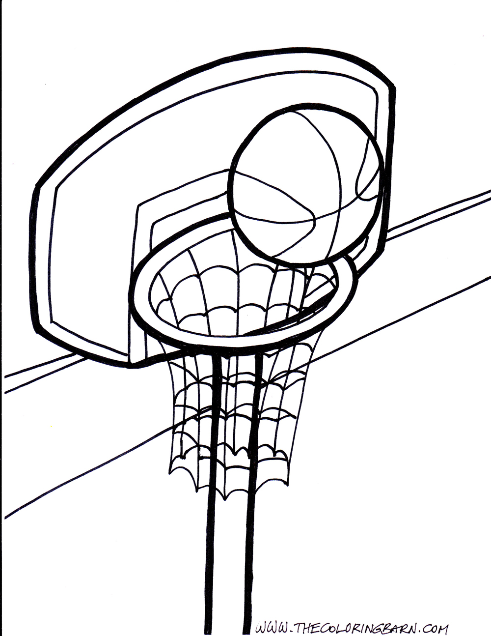 how to draw a basketball net in a basketball ball