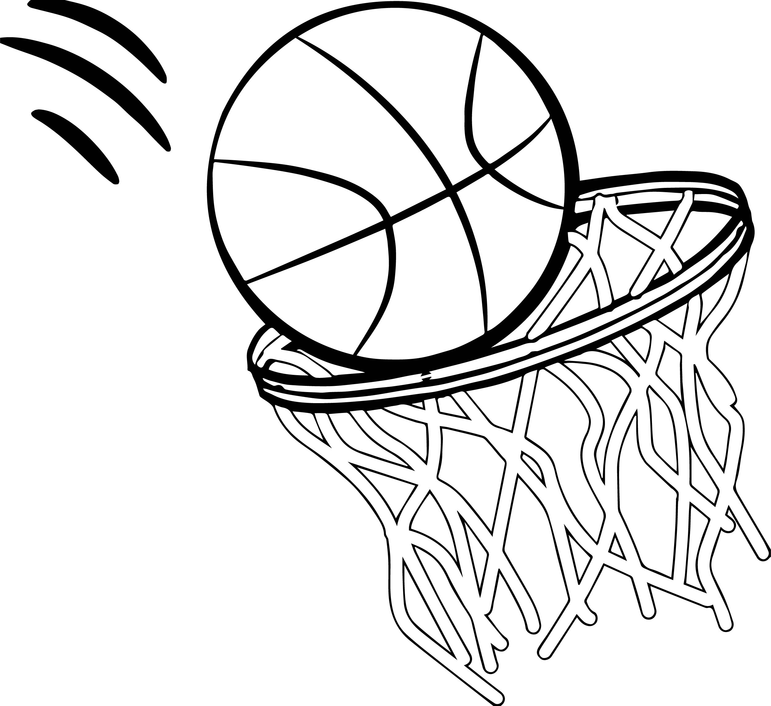 Basketball Rim Drawing at GetDrawings.com | Free for ...