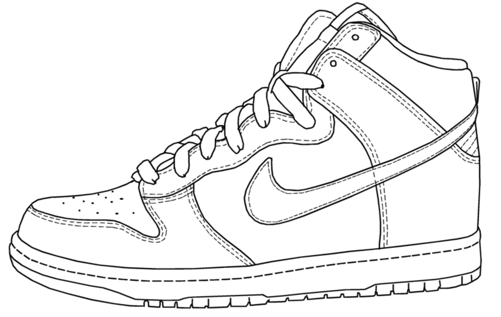 Perfect 1600x1014 Basketball Shoes Drawing Stunning Nike Air Jordan Coloring Pages