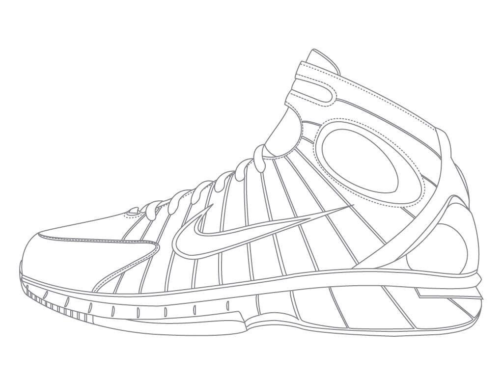 Basketball Shoes Drawing at GetDrawings | Free download