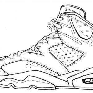 300x300 copy coloring pages of basketball shoes similarpagesco