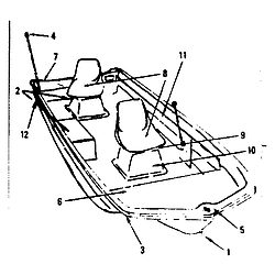 250x250 Craftsman Gamefisher Bass Boat Amp Tri Hull Parts Model 107611040