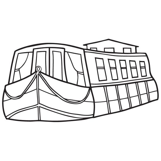550x550 Coloring Page Boat