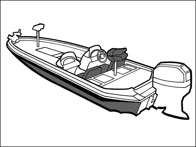 Bass Boat Drawing At Getdrawings
