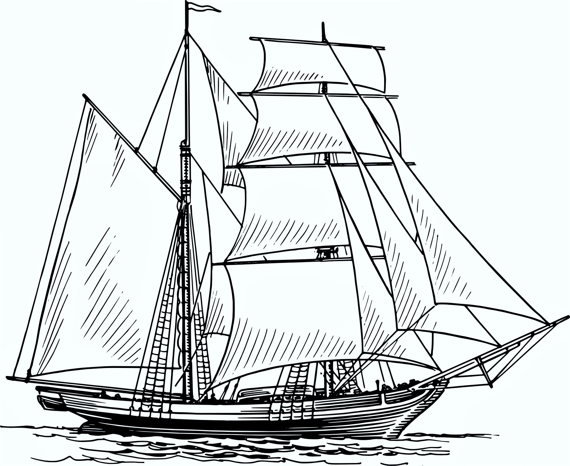 1920x1569 How To Draw A Boat