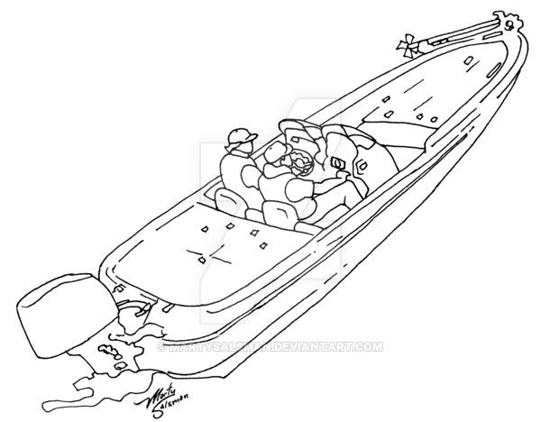 600x468 Simplified Bass Boat By Martysalsman
