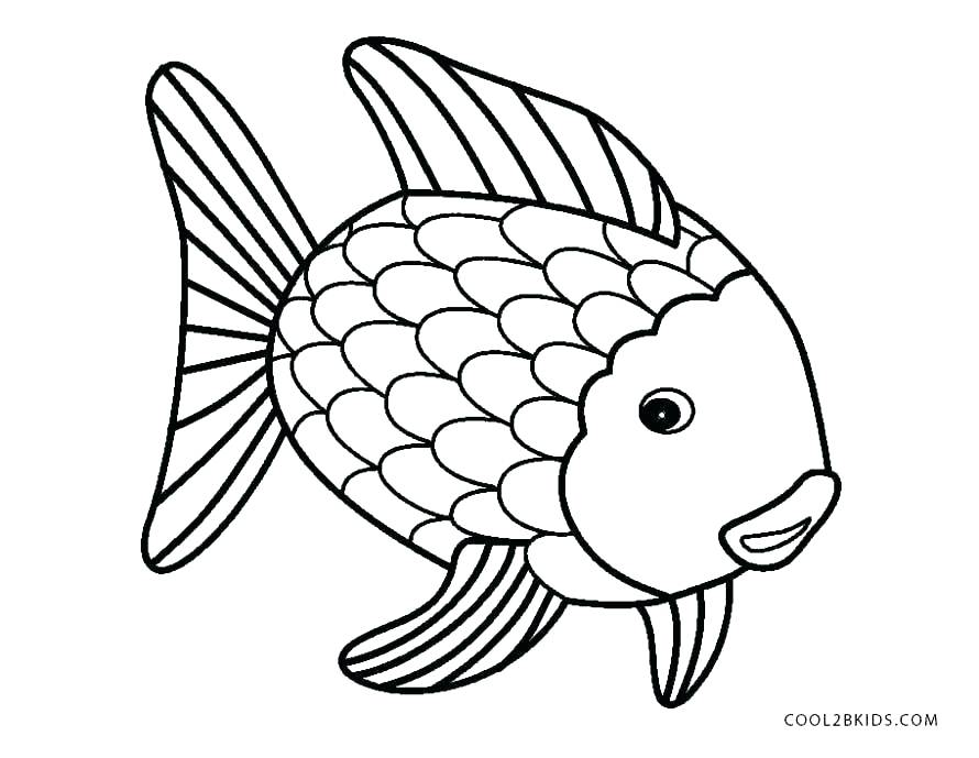 890x689 Bass Coloring Pages Printable Fish Coloring Pages Rainbow Fish