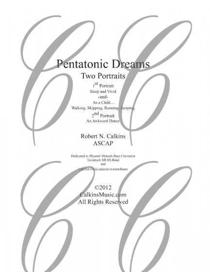 433x560 Pentatonic Dreams Bass Clarinet Amp Piano