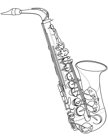 371x480 Saxophone Coloring Page Free Printable Coloring Pages