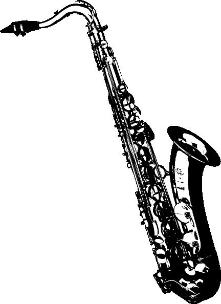 432x594 Tilted Sax Clip Art