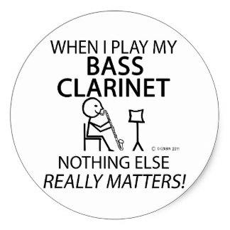 324x324 Bass Clarinet Humor Craft Supplies Zazzle