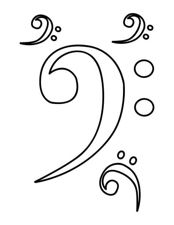 Bass Clef Drawing