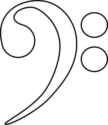 367x425 Bass Clef Clip Art Inspiration Clef, Clip Art And Bass