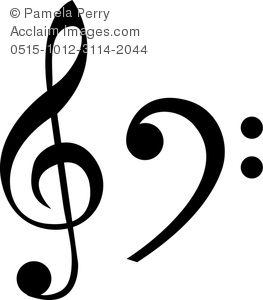 263x300 Art Image Of A Treble Clef And A Bass Clef